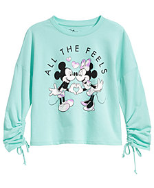Disney Big Girls Mickey & Minnie Mouse Graphic-Print Top