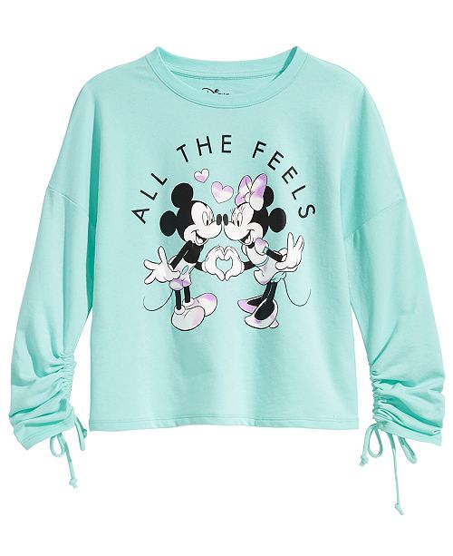 Evy of California Disney Big Girls Mickey & Minnie Mouse Graphic-Print Top