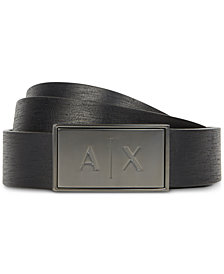 Armani Exchange Mens Logo Buckle Belt