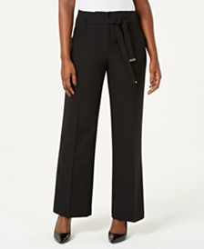 JM Collection Tie-Front Wide-Leg Pants, Created for Macy's