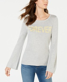 I.N.C. Forever Graphic-Print Sweater, Created for Macy's