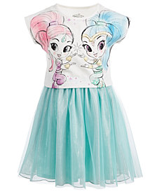 Nickelodeon Little Girls Shimmer & Shine Layered-Look Dress