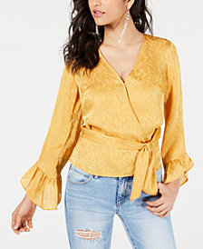 GUESS Haidee Bell-Sleeve Wrap Top