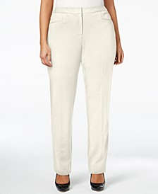 Plus & Petite Plus Size Modern Straight-Leg Pants, Created for Macy's