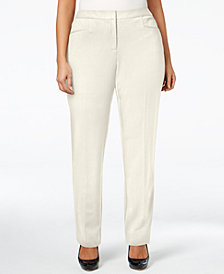 Alfani Plus Size Modern Straight-Leg Pants, Created for Macy's
