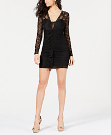 GUESS Taila Lace Ruffled Dress