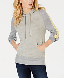 I.N.C. Varsity-Stripe Sweater Hoodie, Created for Macy's