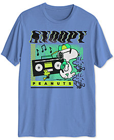 Snoopy Tune Warp Men's Graphic T-Shirt