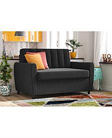 Novogratz Brittany Sleeper Sofa with Memory Foam Mattress