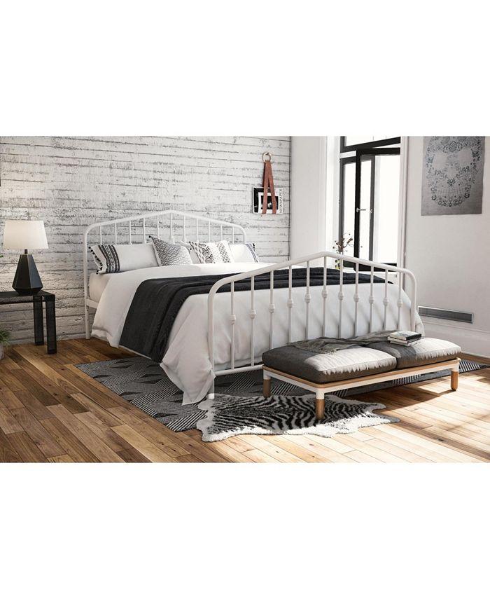 Novogratz Collection - Bushwick Metal Bed in White