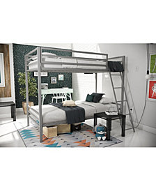 Novogratz Maxwell Twin over Twin Metal Bunk Bed