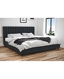 Novogratz Brittany Upholstered King Bed