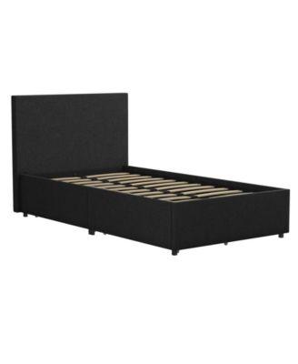 Novogratz Kelly Upholstered Twin Bed with Storage