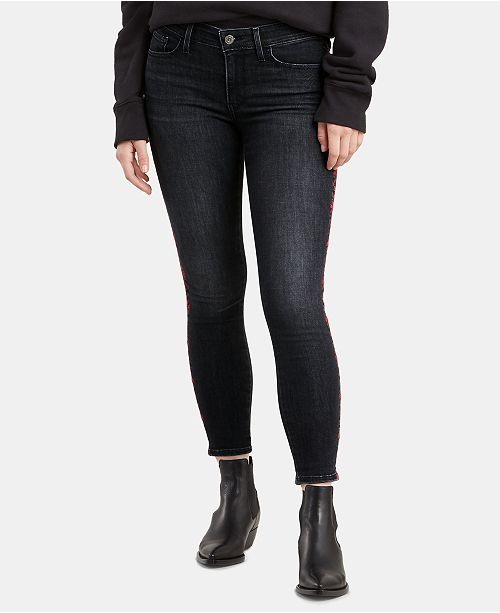 Levi's 711 Embroidered Skinny Ankle Jeans