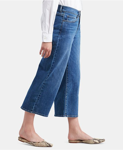 Levi's Cropped Wide-Leg Jeans