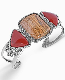 Picture Jasper and Red Jasper Cuff in Sterling Silver