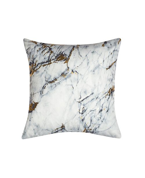 Edie@Home Precious Metals Collection Printed Marble Pillow