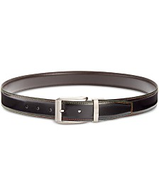 Tallia Men's Rainbow Stitch Belt
