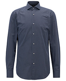 BOSS Men's Slim Fit Printed Cotton Shirt