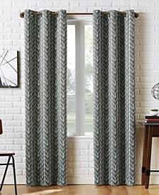 Sun Zero Kenwood Chevron Blackout Grommet Curtain Panel Collection