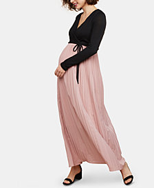 Motherhood Maternity Long-Sleeve Maxi Dress