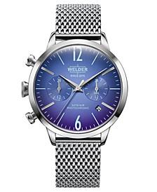 Women's Stainless Steel Mesh Bracelet Watch 38mm