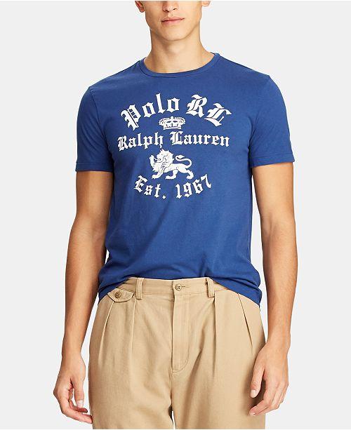 7af11ca441c556 Polo Ralph Lauren Men's Custom Slim Fit Cotton T-Shirt & Reviews - T ...