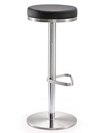 Fano Black Steel Adjustable Barstool