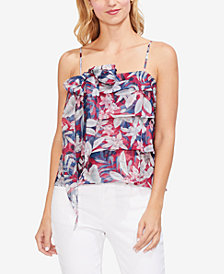 Vince Camuto Printed Tiered Bow-Detail Cami