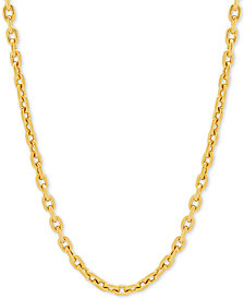 "Rolo Link 22"" Chain Necklace in 14k Gold"