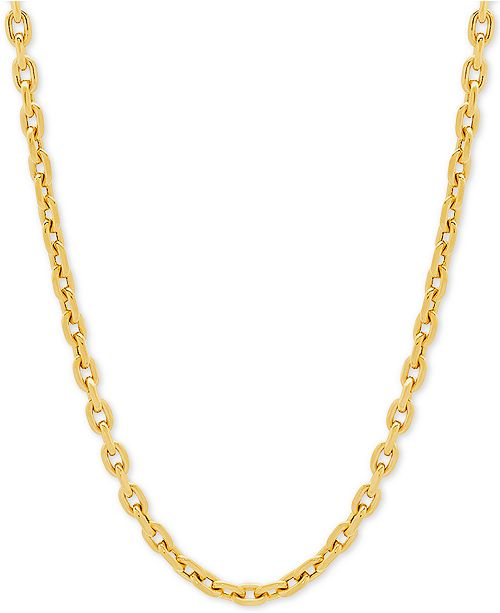 "Macy's Rolo Link 22"" Chain Necklace in 14k Gold"