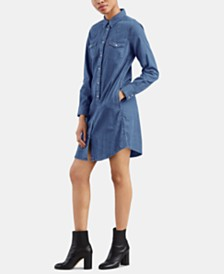 Levi's® Cotton Ultimate Western Shirtdress