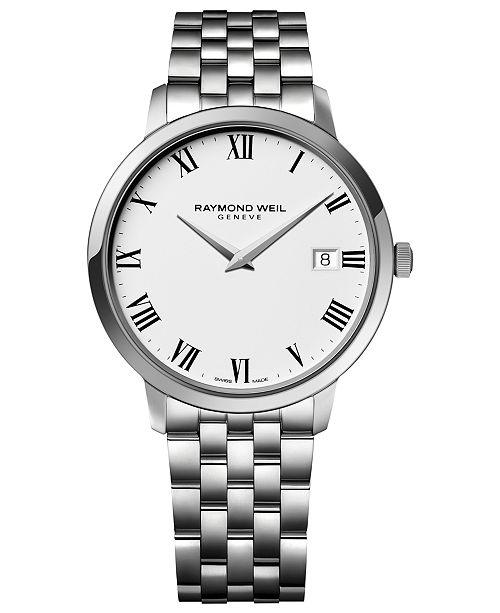 Raymond Weil Men's Toccata Stainless Steel Bracelet Watch 42mm