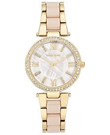 Anne Klein Women's Blush & Gold-Tone Bracelet Watch 33mm