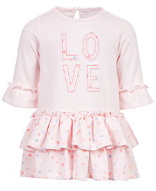 First Impressions Baby Girls Love Tiered Ruffle Dress, Created for Macy's