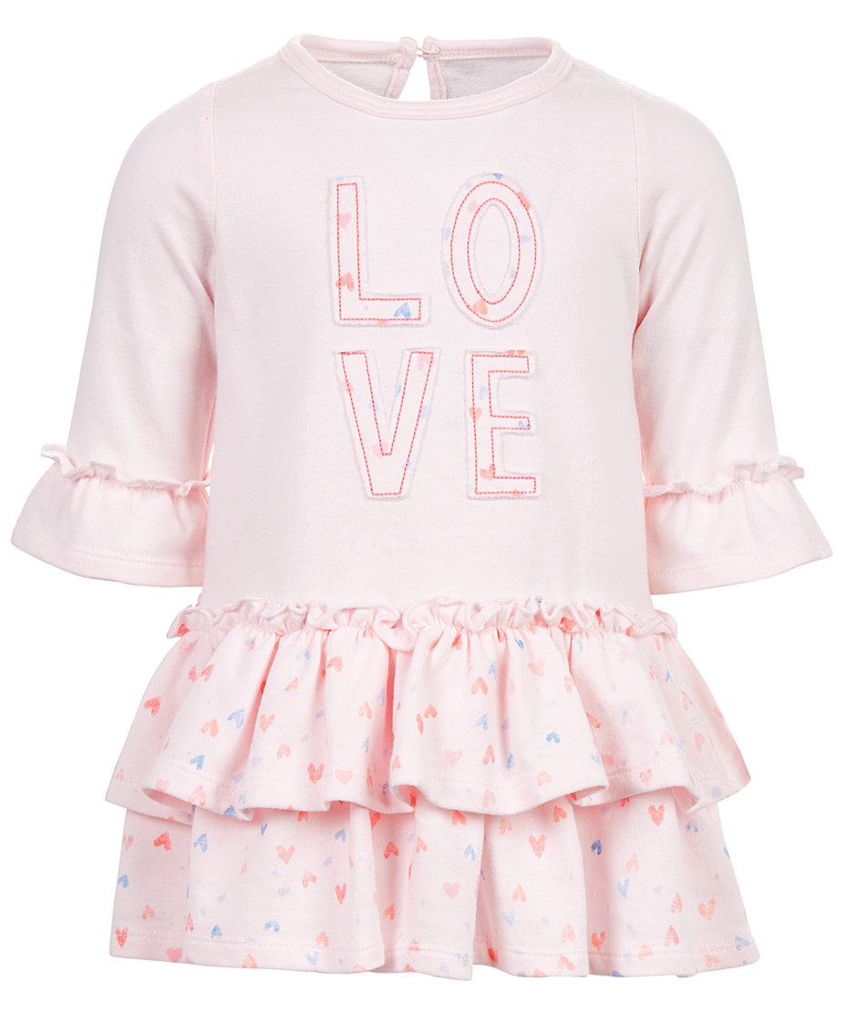 b916aca0fb3d First Impressions Baby Girls Love Tiered Ruffle Dress