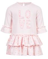 cc38cff4fff First Impressions Baby Girls Love Tiered Ruffle Dress
