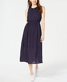 Maison Jules Dot-Print Belted Waist Dress, Created for Macy's