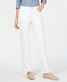 Charter Club Straight-Leg Braid-Stripe Jeans, Created for Macy's