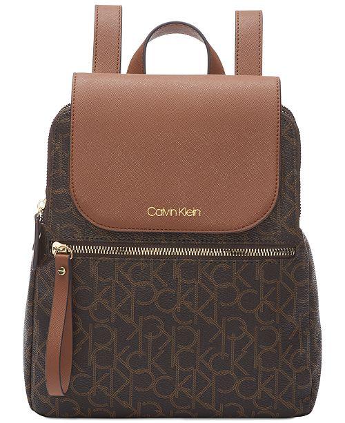 eac5d2b0259e0e Calvin Klein Signature Elaine Backpack; Calvin Klein Signature Elaine  Backpack ...
