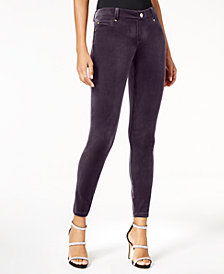 I.N.C. Velvet Skinny Pants, Created for Macy's