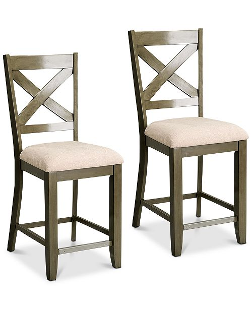 new concept a1fab 23cee Omaha X-Back Bar Stool (Set Of 2), Quick Ship
