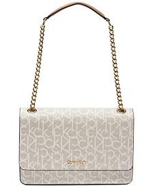 c7a3bd575f Calvin Klein Hayden Signature Shoulder Bag
