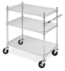 Rolling 3-Tier Commercial Cart