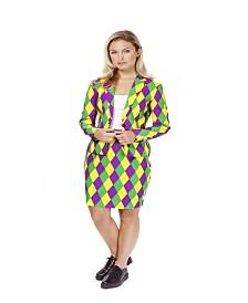 OppoSuits Women's Harlequeen Mardi Gras Suit