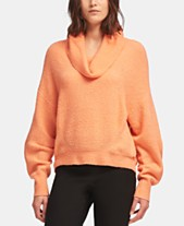 a14ae652bc DKNY Cowlneck Ribbed Knit Sweater