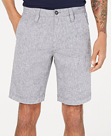 "I.N.C. Men's Linen Blend 10"" Shorts, Created for Macy's"