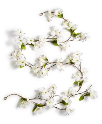 Spring Dogwood Artificial Garland, Created for Macy's