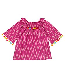 Masala Baby Baby Girl's Rosy Ikat Dress