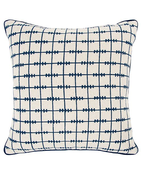 """Rizzy Home Donny Osmond 20"""" x 20"""" Geometrical Design Pillow Cover"""